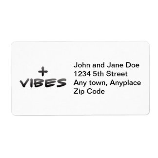 Positive Vibes Custom Shipping Labels