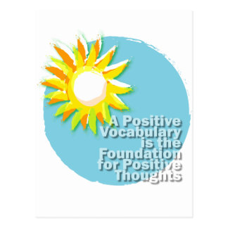Positive Vocabulary = Positive Thoughts Postcard