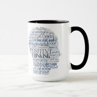 Positive words and mindset mug