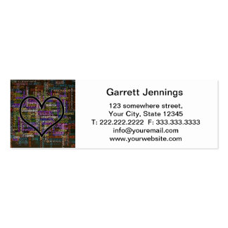 Positive Words Business Cards