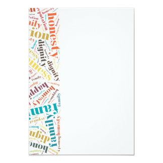 Positive words cloud card
