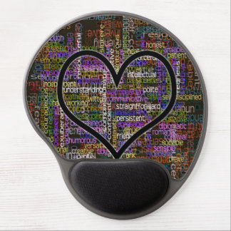 Positive Words Gel Mouse Pad