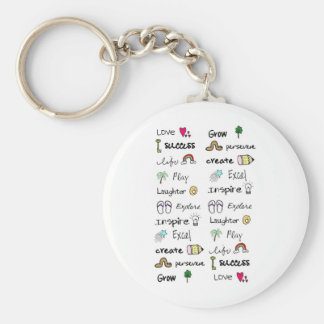 Positive Words Keychain