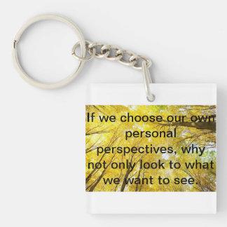 Positive words keychain