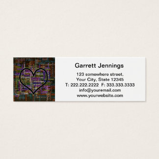 Positive Words Mini Business Card