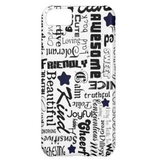 Positive words typography iPhone 5C cover