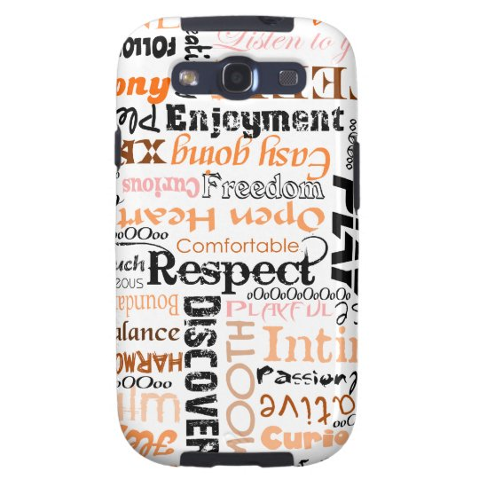 Positive words Typography design Samsung Galaxy SIII Cover