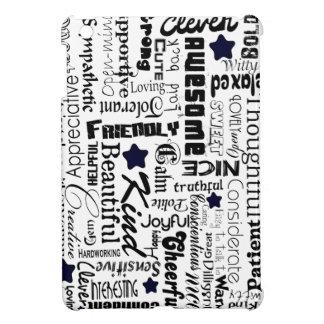 Positive words typography iPad mini case