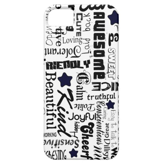 Positive words typography iPhone SE/5/5s case