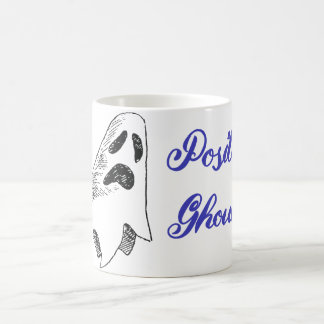 """""""Positively Ghoulish"""" Ghost Coffee Mug Cup"""