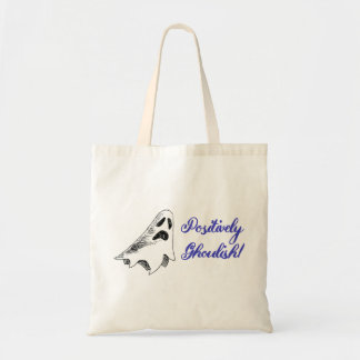 """""""Positively Ghoulish"""" Ghost Halloween Tote Bag"""