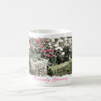 """Positively Growing """"Potted Rose"""" Coffee Mug"""