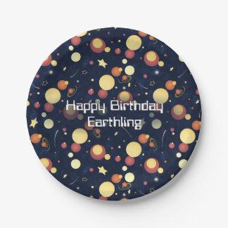 Positively Orbital cosmic nighttime sky Paper Plate