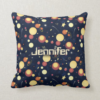 Positively Orbital cosmic space galaxy Throw Pillow