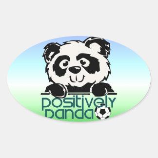 Positively Panda (Soccer) Oval Sticker