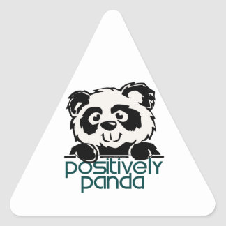 Positively Panda Triangle Sticker