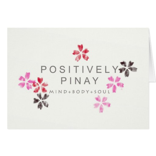 Positively Pinay - Customized Greeting Card