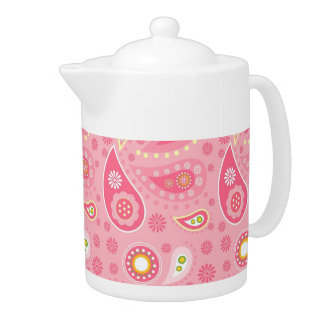 Positively Pink Paisley Teapot