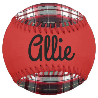 Positively Plaid Keepsake Softball