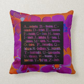 positively positive ABC's Throw Pillow