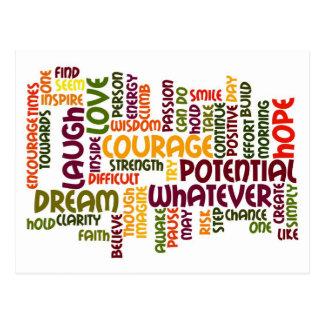 Positividad de motivación de las palabras #1 tarjeta postal