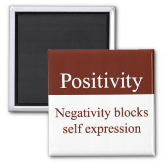 Positivity allows self expression 2 inch square magnet