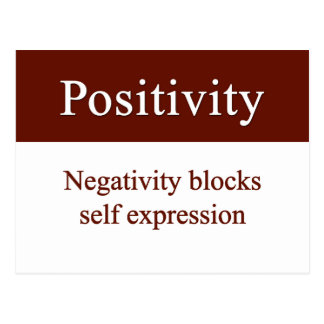 Positivity allows self expression postcard