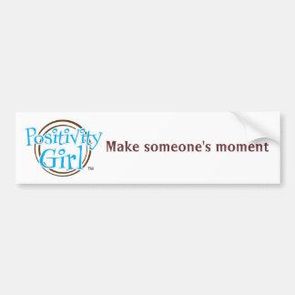 Positivity Girl™ MSM Bumper Sticker Car Bumper Sticker
