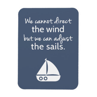Positivity Mindset Nautical Sail boat Quote Magnet