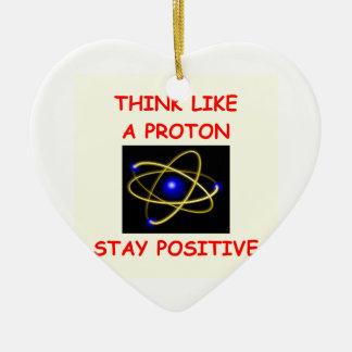 positivo adorno navideño de cerámica en forma de corazón