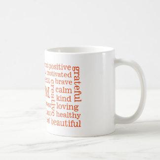 Positivo feliz de los pensamientos SOY Taza De Café
