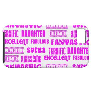 Positivos rosados frescos de las hijas del diseño iPhone 5 protectores
