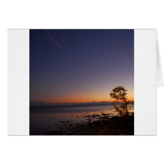 Posluminiscencia del tiroteo del cielo tarjeta de felicitación