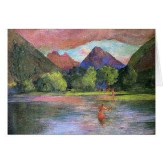 """""""Posluminiscencia, río de Tautira, Tahití"""" - Juan Tarjeta Pequeña"""