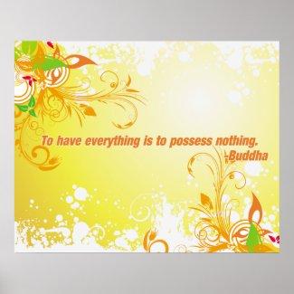 Possess Nothing Buddha print