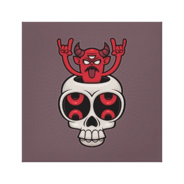 Halloween Themed Possessed Canvas Print