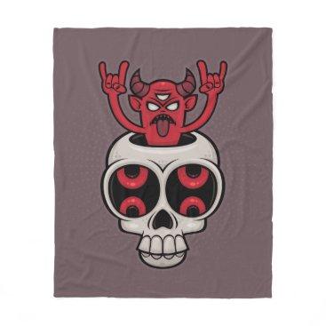 Halloween Themed Possessed Fleece Blanket