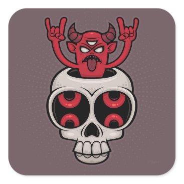 Halloween Themed Possessed Square Sticker