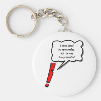 Possessive apostrophe keychain