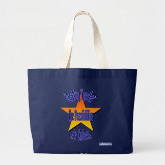 Possibilities Are Endless Bag Jumbo Tote Bag