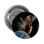 """POSSIBILITIES"" Bald Eagle Motivational Gifts Pinback Button"