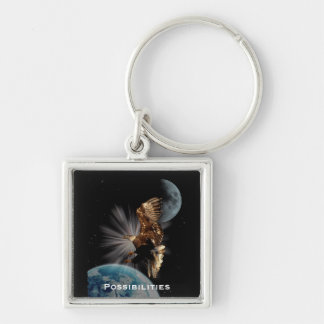 """""""POSSIBILITIES"""" Bald Eagle Motivational Gifts Keychain"""