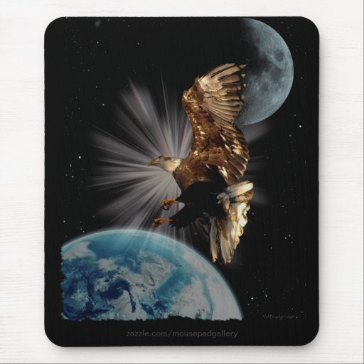 """""""POSSIBILITIES"""" Bald Eagle Motivational Gifts Mouse Pad"""