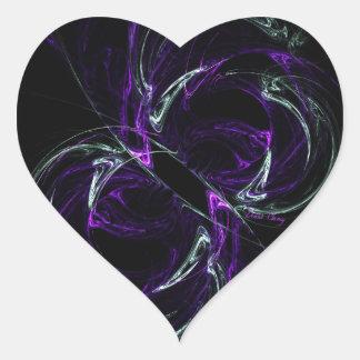 Possibilities - Cosmic Purple & Amethyst Heart Stickers