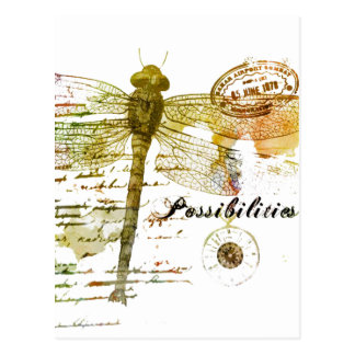 Possibilities dragonfly postcard