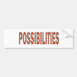 POSSIBILITIES : Wisdom Words Coach Mentor LOWPRICE Bumper Sticker