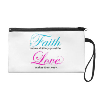 Possible Faith makes all things Wristlet Purse