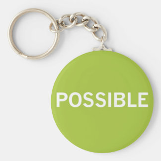 Possible keyring basic round button keychain