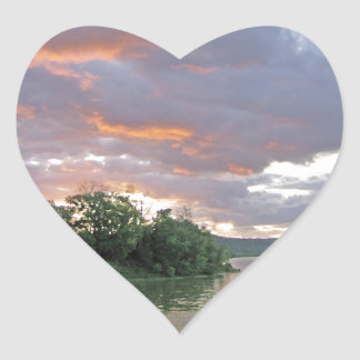 Possible Storm Today in Ohio River Valley Heart Sticker