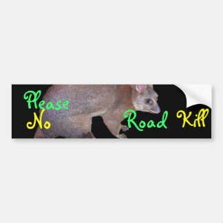Possum Bumper Sticker
